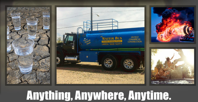 Anything, Anywhere, Anytime | Glasses of water | Company truck | Oilfield fire | Pool