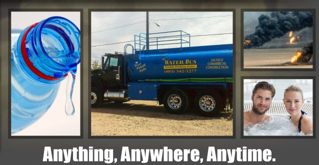 Anything, Anywhere, Anytime. | Pouring water | Company truck | Oilfield fire | People in spa